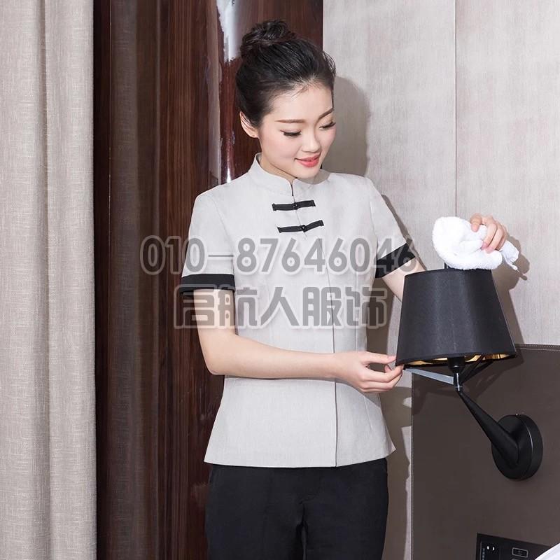 定做酒店保洁服短袖客房保洁乐动体育官网入口夏装阿姨PA保洁员服装女套装