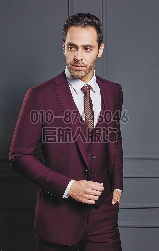 商务男士西服套装男修身职业装西服套装