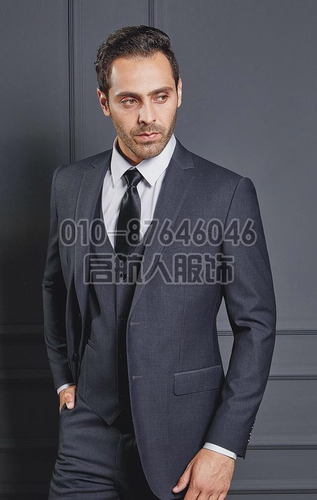 春夏新款商务正装西服套装 韩版修身上班男士职业西装