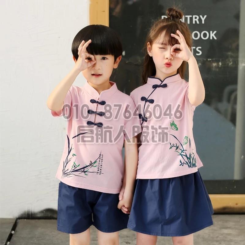 夏装女童校服套装学院英伦风幼儿园园服儿童小学生班服毕业照服装
